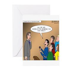 Sermon Tweeting Greeting Cards (Pk of 10)