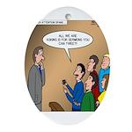 Sermon Tweeting Ornament (Oval)