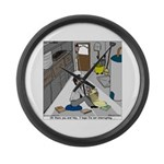 Minister in Hiding Large Wall Clock