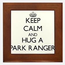 Keep Calm and Hug a Park Ranger Framed Tile