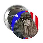 Black Poodle Button