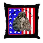 Black Poodle Throw Pillow