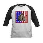 Black Poodle Kids Baseball Jersey
