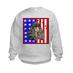 Black Poodle Kids Sweatshirt