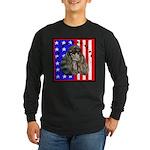 Black Poodle Long Sleeve Dark T-Shirt