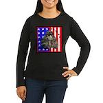 Black Poodle Women's Long Sleeve Dark T-Shirt