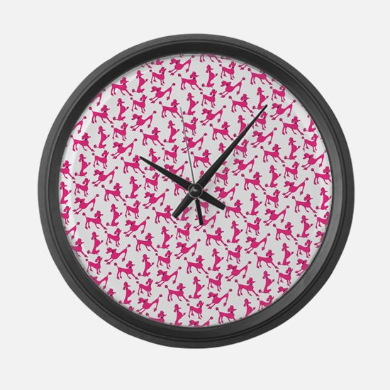 poodles Large Wall Clock