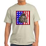Black Poodle Ash Grey T-Shirt