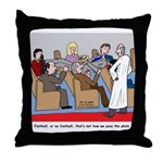 Passing the Plate Throw Pillow