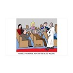 Passing the Plate 35x21 Wall Decal