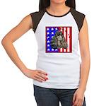 Black Poodle Women's Cap Sleeve T-Shirt