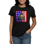 Black Poodle Women's Dark T-Shirt