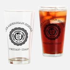 TASBlackNoteCard Drinking Glass