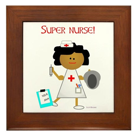 Super Nurse Framed Tile