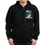 Tough Pastoral Visits Zip Hoodie (dark)