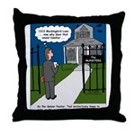 Tough Pastoral Visits Throw Pillow