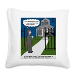 Tough Pastoral Visits Square Canvas Pillow
