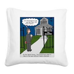 Tough Pastoral Visits Square Canvas Pillow