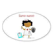 Super Nurse Oval Decal