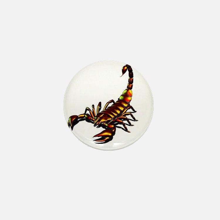 Metal Scorpion Mini Button