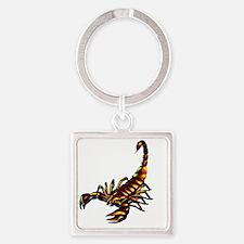 Metal Scorpion Square Keychain