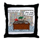 New Pastor Adjustment Throw Pillow