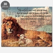 greeting card lion and lamb Puzzle