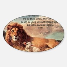 greeting card lion and lamb Decal