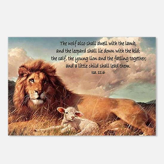 greeting card lion and la Postcards (Package of 8)