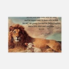 greeting card lion and lamb Rectangle Magnet