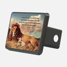 greeting card lion and lam Hitch Cover