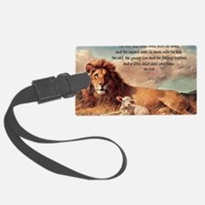 greeting card lion and lamb Luggage Tag
