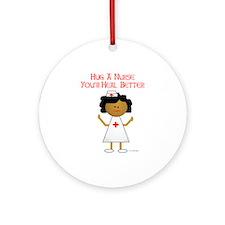 Hug A Nurse Ornament (Round)