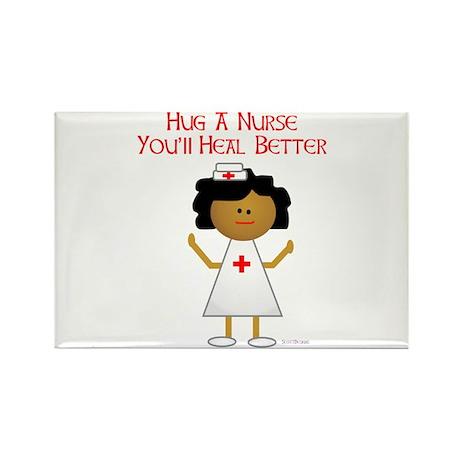Hug A Nurse Rectangle Magnet (100 pack)