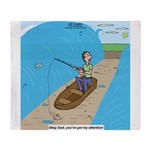 Fishing with God Throw Blanket
