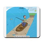 Fishing with God Mousepad