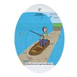 Fishing with God Ornament (Oval)