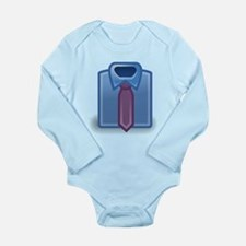 Blue Dress Shirt and Tie Body Suit