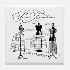 Paris Couture Mannequins Tile Coaster