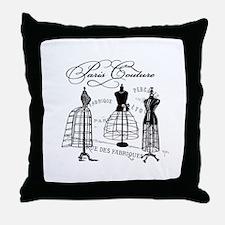 Paris Couture Mannequins Throw Pillow