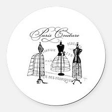 Paris Couture Mannequins Round Car Magnet