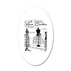 Paris Couture Mannequins Wall Decal