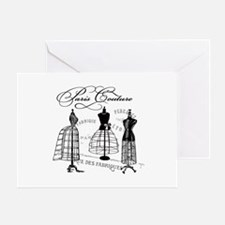 Paris Couture Mannequins Greeting Card