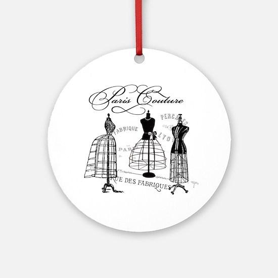 Paris Couture Mannequins Ornament (Round)