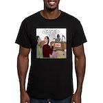 Death Works at the DMV Men's Fitted T-Shirt (dark)