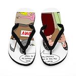 Death Works at the DMV Flip Flops