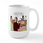 Death Works at the DMV Large Mug