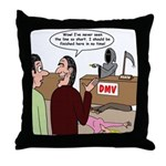 Death Works at the DMV Throw Pillow