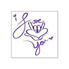 """i_love_you_american_sign_la Square Sticker 3"""" x 3"""""""