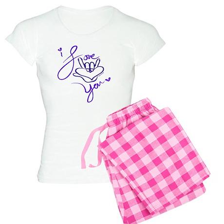 i_love_you_american_sign_la Women's Light Pajamas